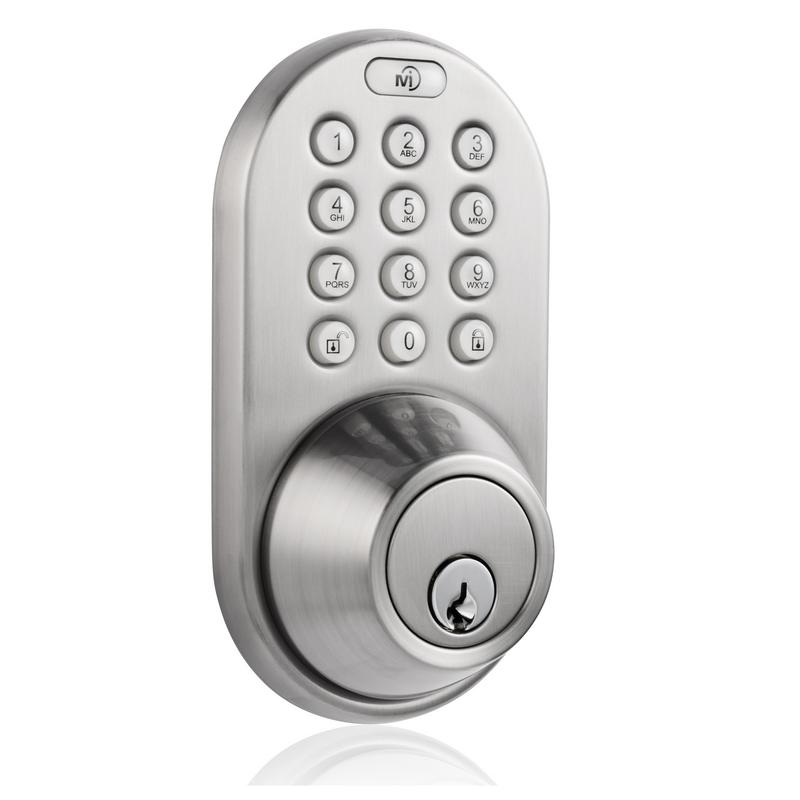 Keyless Entry Deadbolt Door Lock with Electronic Digital Keypad Satin Nickle