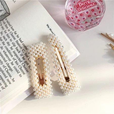 Korean Version Cute Side Folder Clip Hairpin Girls Barrettes Hair Clip Clamp - image 7 de 9
