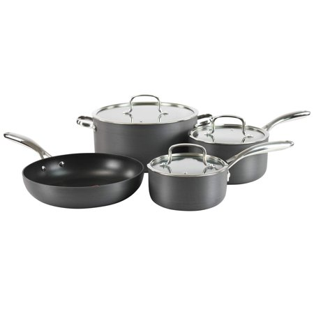 Hamilton Beach  Grey Hard-anodized/ Stainles Steel Aluminum Classic 7-piece Quantanium Cookware (Grey Anodized Aluminum Box)