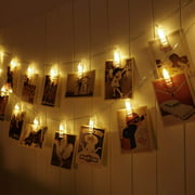 20 Led Photo Clips String Lights (9.84 Ft, Warm White) for Hanging Pictures, Cards, Artwork, Decorations, I0417