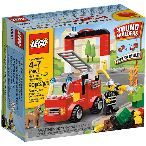 LEGO Bricks and More My First LEGO Fire Station Play Set