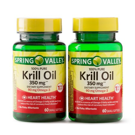 Spring Valley Krill Oil Softgels, 350 Mg, 60 Ct, 2 Pack