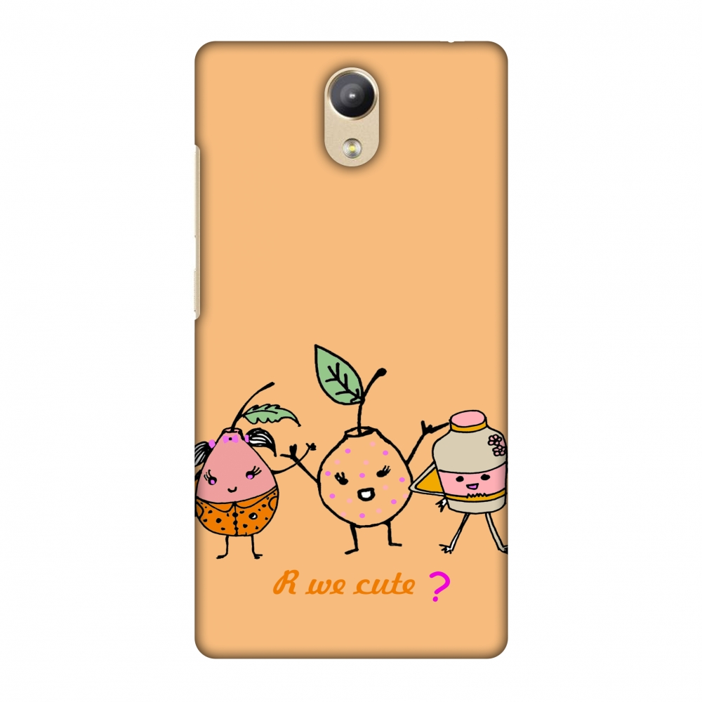 Lenovo Phab 2 Case - Are we cute?- Peach, Hard Plastic Back Cover, Slim Profile Cute Printed Designer Snap on Case with Screen Cleaning Kit