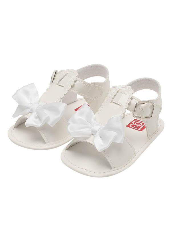 Babula Baby Girl Bowknot Solid Sandals Summer Princess Shoes 0-18M
