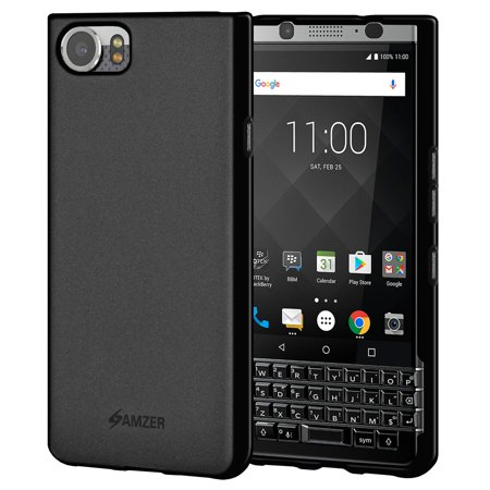 BlackBerry KEYone Case Charger Kit, Premium BlackBerry Keyone TPU Case ShockProof Bumper Black Back Cover and 3 Feet USB Type C Super Speed Fast Data Sync Charge Cable for BlackBerry