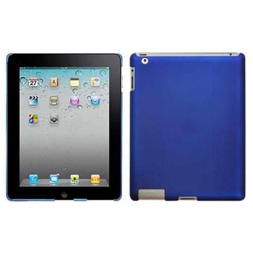 Insten Titanium Solid Dark Blue SmartSlim Back Case for APPLE: iPad 2, The new iPad, iPad 4 (w/ Retina display)