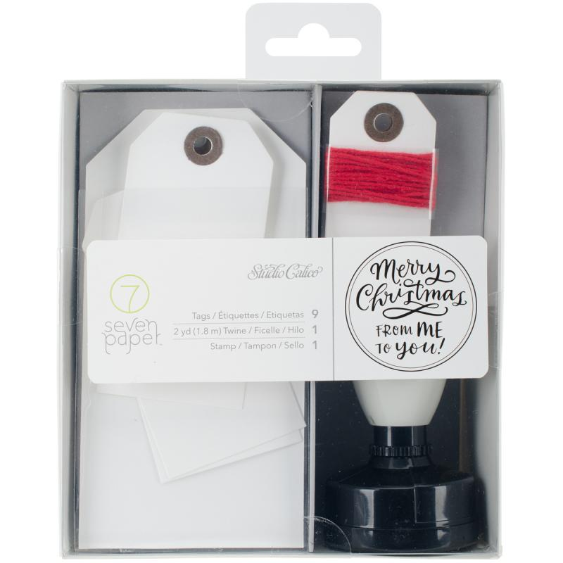 Seven Paper Felix Stamp, Tags & Twine Kit-