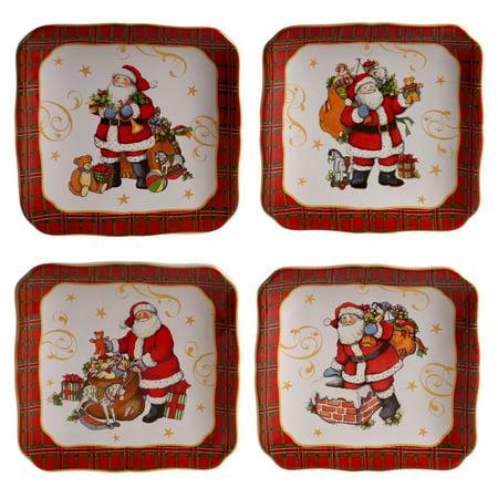 Vintage Santa Set/4 Canape Plate 6