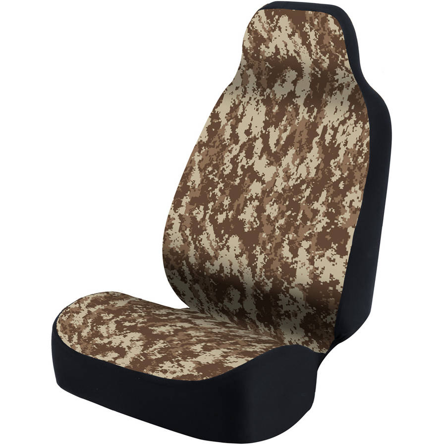 Coverking Universal Seat Cover Designer, Ultra Suede Digital Camo Sand