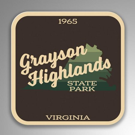 Grayson Highlands State Park Decal Sticker 4 Inches By 4