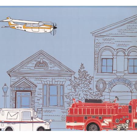 City Cartoon View Plane Post