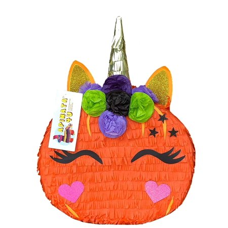 APINATA4U Pumpkin Unicorn Pinata Fall Theme Pinata Halloween Party Favor - Pinata Halloween