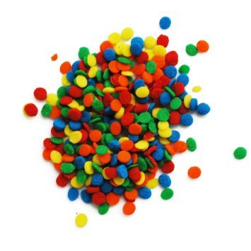 Primary Sequins 6 oz. Sprinkles Edible Cookie Cake Cupcake Decorating Confetti ()