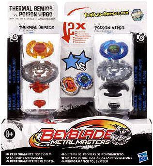 Hasbro Beyblade Metal Masters Thermal Gemios vs. Poison V...