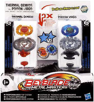 Beyblade Metal Masters Thermal Gemios vs. Poison Virgo 2-Pack B119
