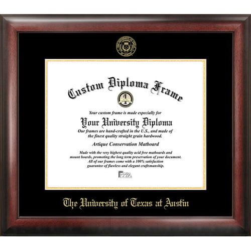 "University of Texas, Austin 11"" x 14"" Gold Embossed Diploma Frame"