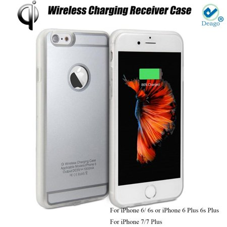 Deago - New QI Standard Wireless Charging Receiver Back Case Cover For iPhone 6/ 6s -