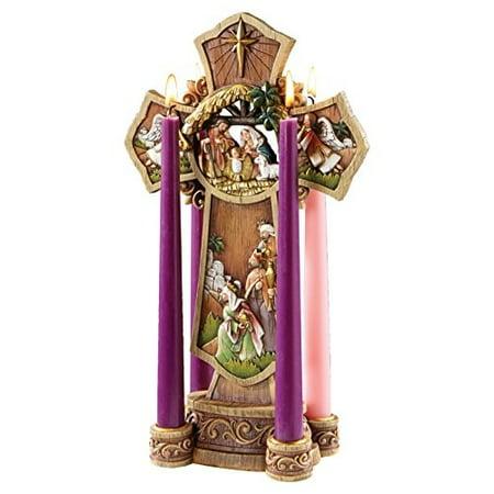Advent Wreaths For Sale (Avalon Gallery Nativity Cross Advent Wreath)