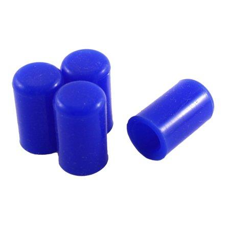 "Unique Bargains Blue 12mm 15/32"" Silicone Blanking Cap Intake Vacuum Hose End Bung Plug 4pcs"
