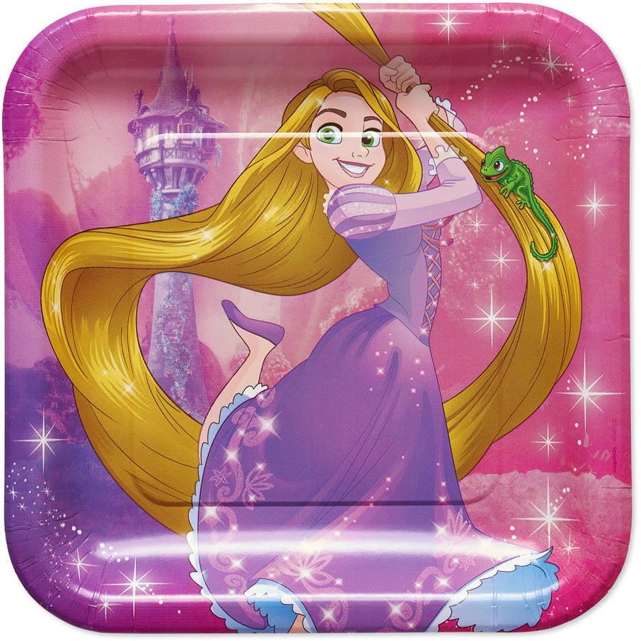 "9"" Rapunzel Square Paper Party Plate, 8ct"