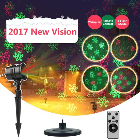 Laser Decorative Lights Garden Laser Light Projector + Remote Control Indoor Outdoor Decorations 5W Light show (Green, Red, Cola, Bell) for Halloween, Christmas, Party, Holiday - Indoor Halloween Decorations