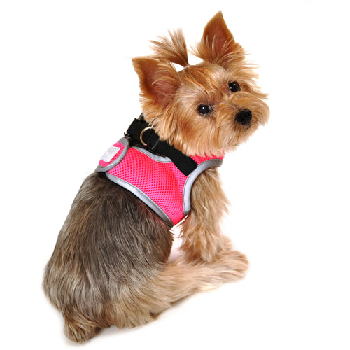 Simply Dog Neon Knockout Pink Reflective Body Harness