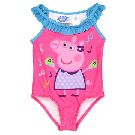 Peppa Pig Toddler Girls One-Piece Swimwear Swimsuit, Pink