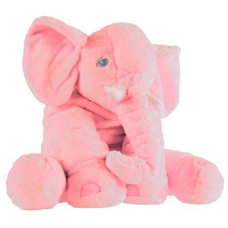 Elephant Stuffed Animal Toy- Plush, Soft Animal Pillow Friend for Infants, Toddlers, Boys, Girls and Adults by Happy Trails (Pink) - Birthday Stuff For Girls