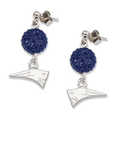New England Patriots S/S NEW ENGLAND PATRIOTS CRYSTAL OVATION EARRINGS