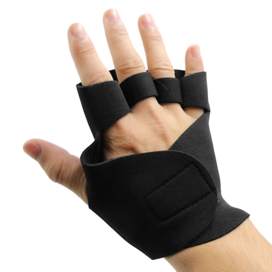 1 Pair Outdoor Training Workout Wrist Wrap Brace Elastic Protector Support Strap Glove Black - image 4 of 5