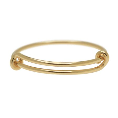 Adjustable Stacking Ring, 1mm Round Wire / US Sizes 8-10, 1 Piece, 14K Gold Filled - Wire Rings