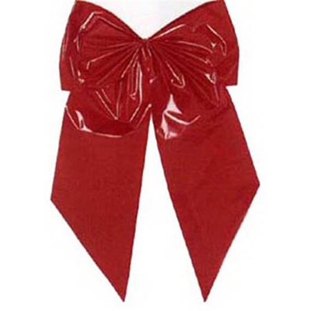 - Holiday Trim 7256 Christmas Bow, 2-Loop, Red Poly, 15 x 24 x 7-In.