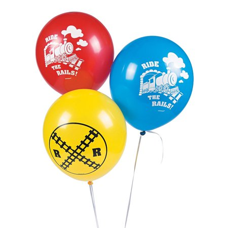 Thomas Train Party Favors (Fun Express - Thomas The Train Latex Balloons for Birthday - Party Supplies - Licensed Tableware - Misc Licensed Tableware - Birthday - 6)