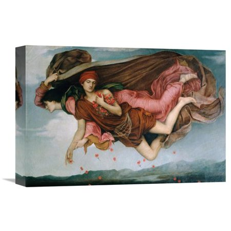 Global Gallery Night And Sleep  Detail  By Evelyn De Morgan Painting Print On Wrapped Canvas