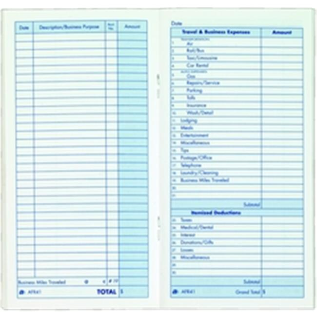 Adams AFR41 Expense Record Book, 3. 25 in x 6. 25 in
