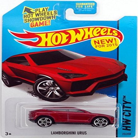 Hot Wheels  2015 Hw City  Lamborghini Urus  Maroon  23 250