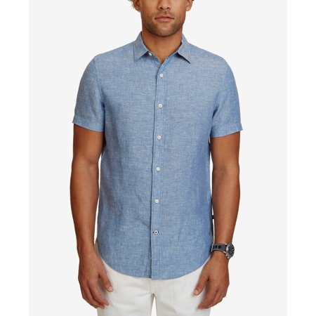 Nautica Men's Classic-Fit Linen Short-Sleeve (Nautica L/s Shirt)