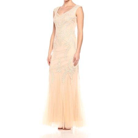 c73a80577e7 Cachet - Cachet NEW Beige Soutache Women s Size 8 Tulle Godet Evening Gown  - Walmart.com