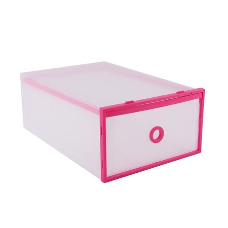 Portable Shoe Storage Organizer Boxes, Durable Household Storage Bin Case, Translucent Plastic Lightweight Shoe Organiser Container Drawer, Ideal for Shoes, Small Kit, Magazines, Books, Space - saving