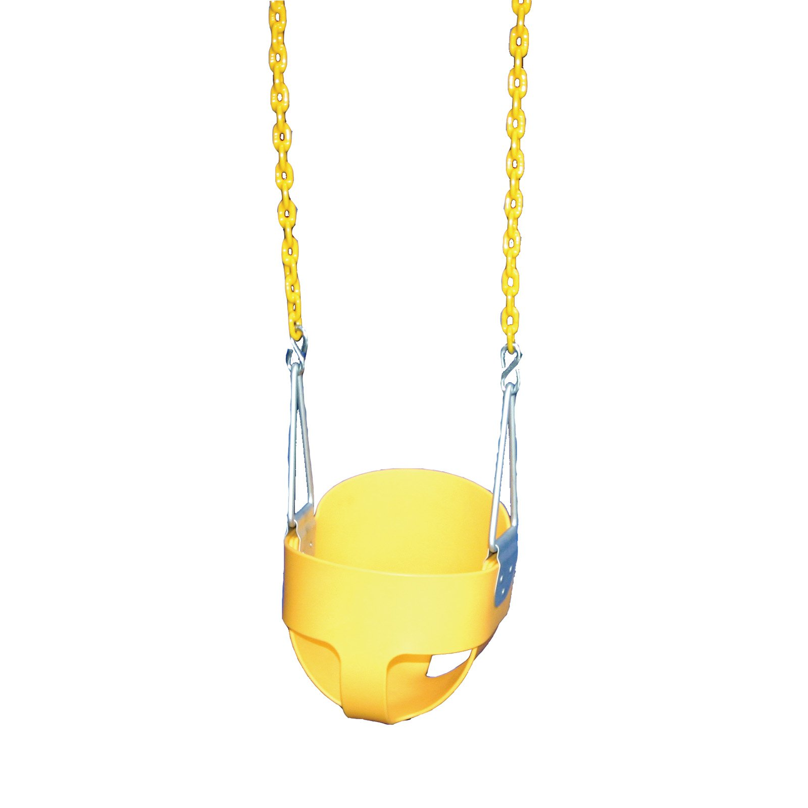 Gorilla Playsets Yellow Full Bucket Swing with Yellow Chains
