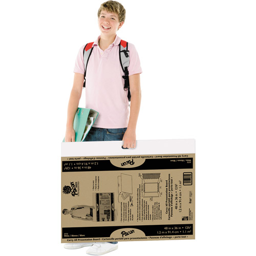 Pacon Foldable Carry All Presentation Board, Folds to 27 x 36 x 1/2, Brown, 3/CT