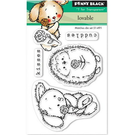Penny Black Mini Clear Stamp Set-Loveable 3