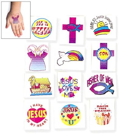 Religious Theme Temporary Tattoos (6 dz)