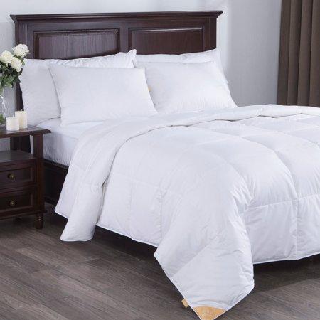Cotton Duvet Comforter - Puredown Lightweight White Goose Down Comforter Duvet Insert 300 Thread Count 100% Cotton Fabric, 600 Fill Power, Twin Size, White