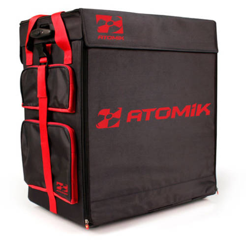 Atomik RC Transporter Race Case Hauler Bag fits Traxxas Losi RC Buggy, Red/Black