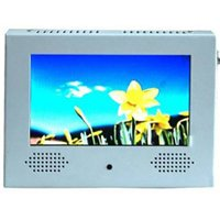Pop TV R-7LCD-W Auto Repeat Video Display, 7 in, 16:9, LCD Display, Shelf Mount