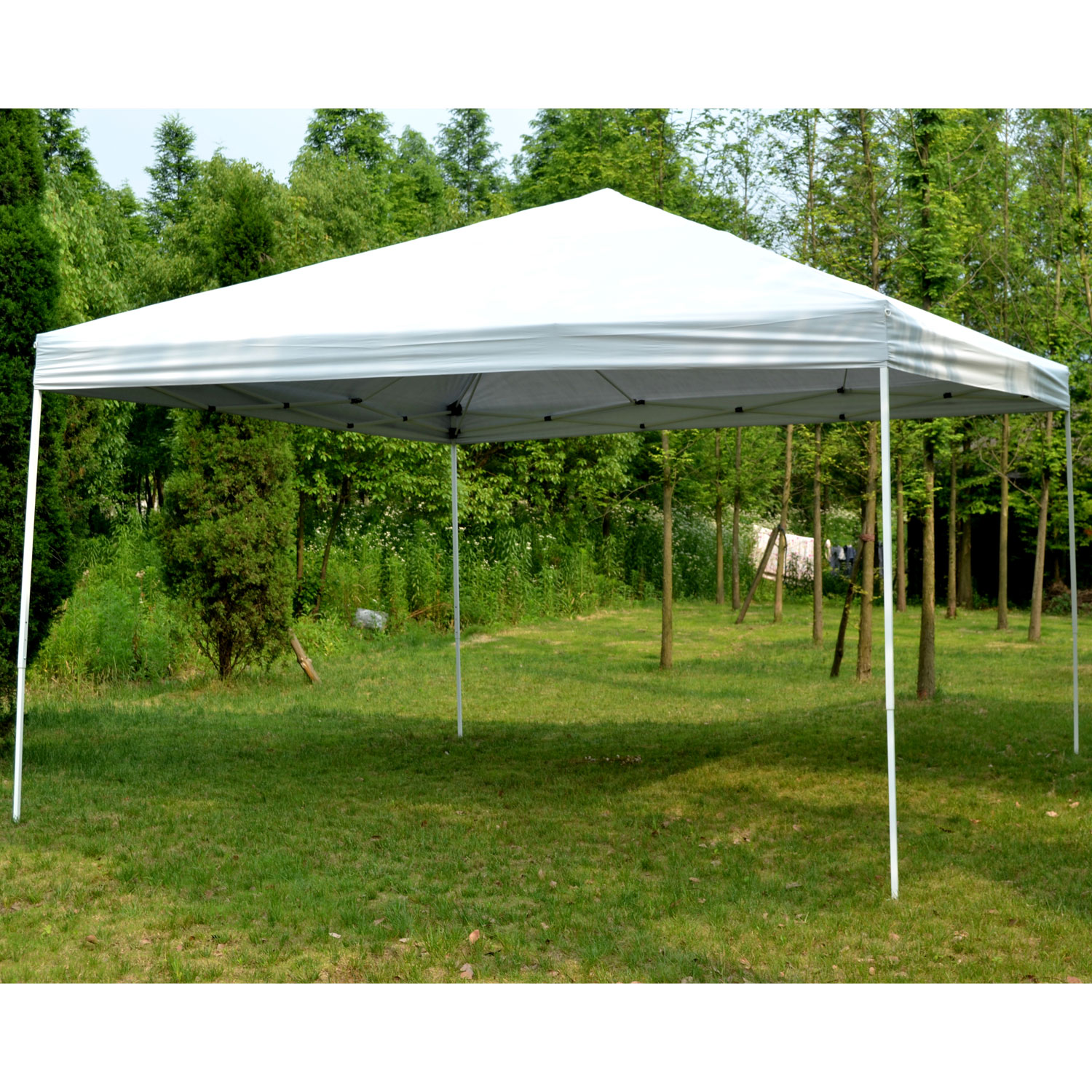 Outsunny 13' x 13' Easy Canopy Pop Up Tent - Light Gray