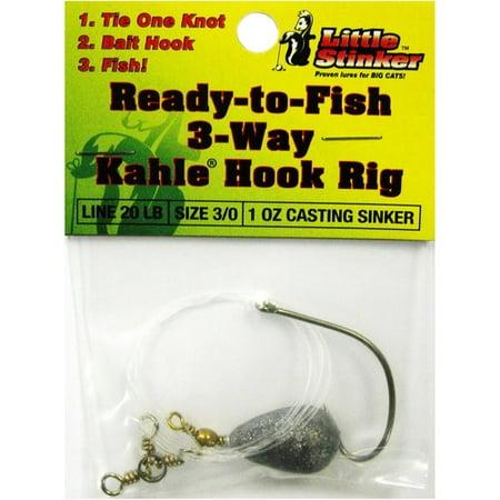 Little Stinker Kahle Hook Bait Rig, 3/0, 1 (Hook Bait Rig)