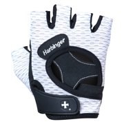 Harbinger Women's FlexFit Wash and Dry Weightlifting Gloves with Padded Leather Palm (Pair) (2017 Model), White, Large
