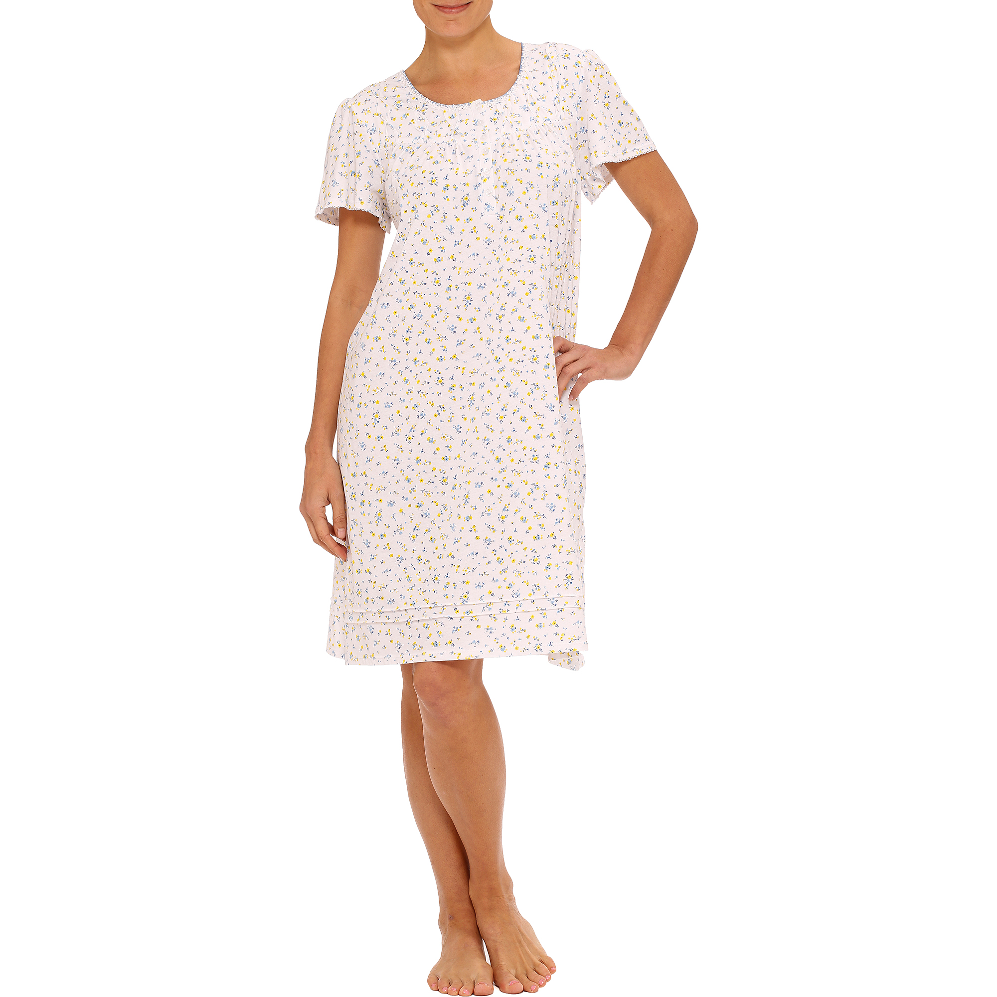 Celestial Dreams Women's Plus Flutter Sleeve Sleep Gown